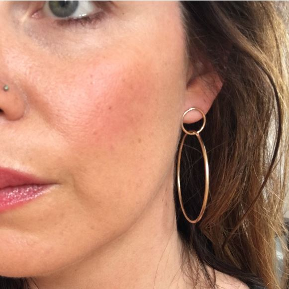 Glamrocks Double Hoop Earrings
