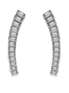 Hestia Jewels Beauty Diamond Bar Earrings