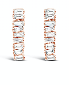 Hestia Jewels Love Diamond Long Bar Earrings