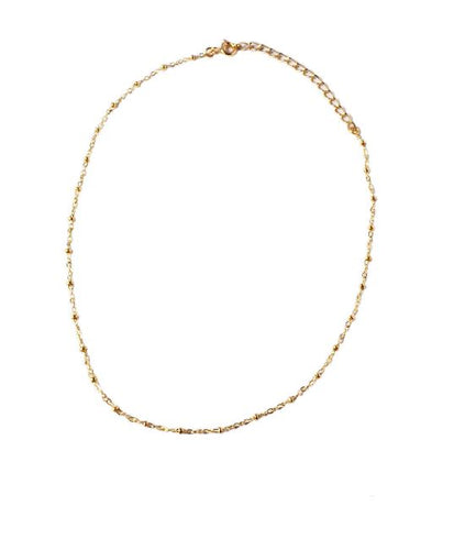 Glamrocks 14k Gold Filled Ball & Chain Choker Necklace
