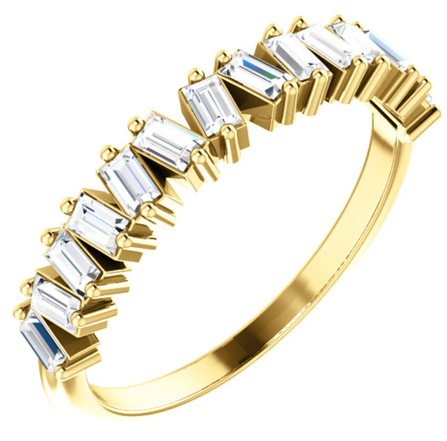 Mismatched Diamond Baguette Ring
