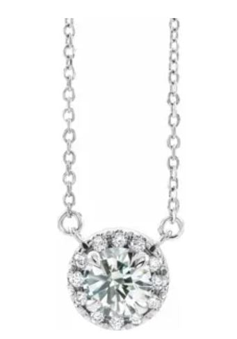 Lab-Grown Diamond Halo Necklace