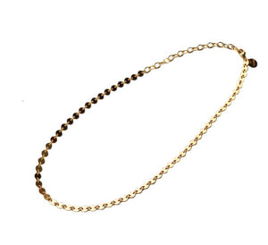 Glamrocks 14k Yellow Gold Filled Disco Chain Choker Necklace