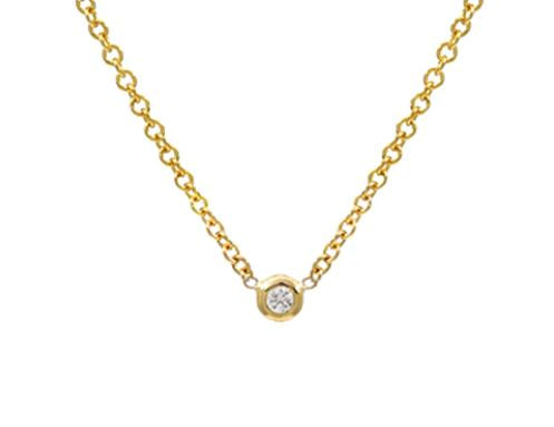Mini Diamond Bezel Necklace
