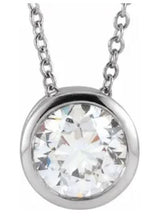 Lab-Grown Diamond Bezel Necklace