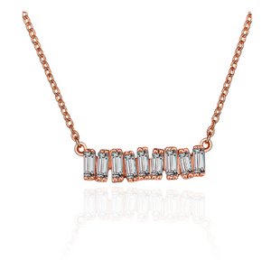Hestia Jewels Love Diamond Bar Necklace