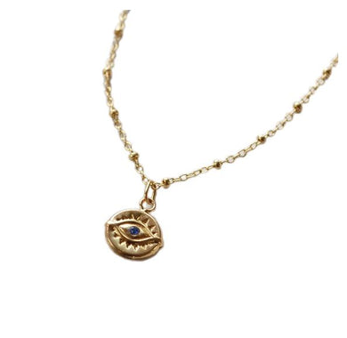 Glamrocks 14k Yellow Gold Filled Third Eye Necklace