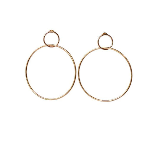 Glamrocks 14k Gold Filled Double Hoop Earrings