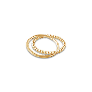 Glamrocks 14k Yellow Gold Filled Rolling Ring