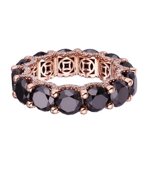 LUISA ALEXANDER 'Halo Black Diamond Ring'