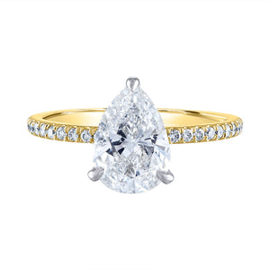 Pear Pave Diamond Setting