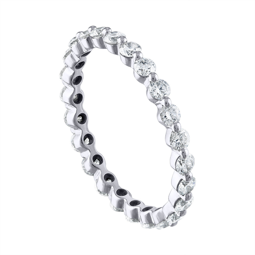 'Single Prong' Eternity Band