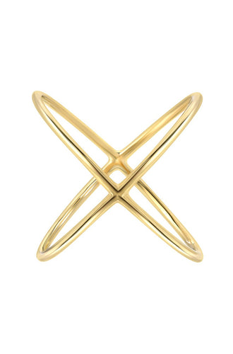 Zoe Lev 14k Gold Large X Ring