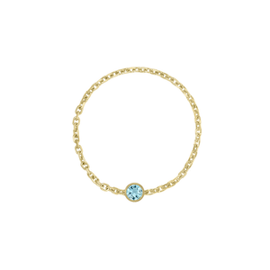 Kelly Bello - Birthstone Chain Ring