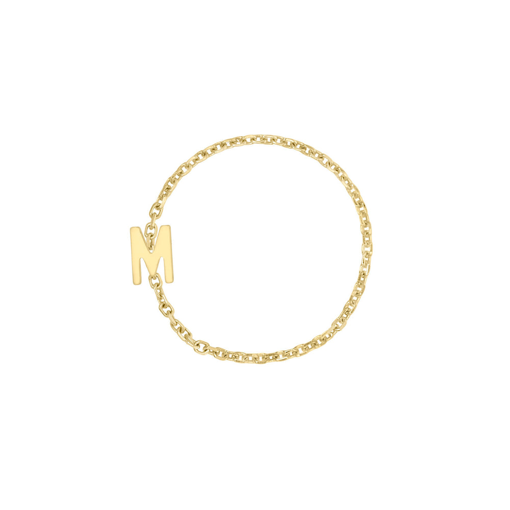 Kelly Bello Mini Mini Letter Chain Ring