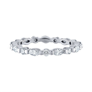 'Marquise & Round' Single Prong Eternity Band