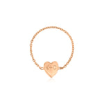 Kelly Bello Mini Heart Chain Ring