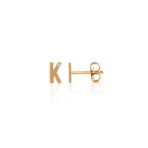 Kelly Bello Mini Letter Studs