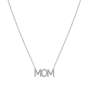 Kelly Bello MOM Diamond Accent Mini Nameplate Necklace