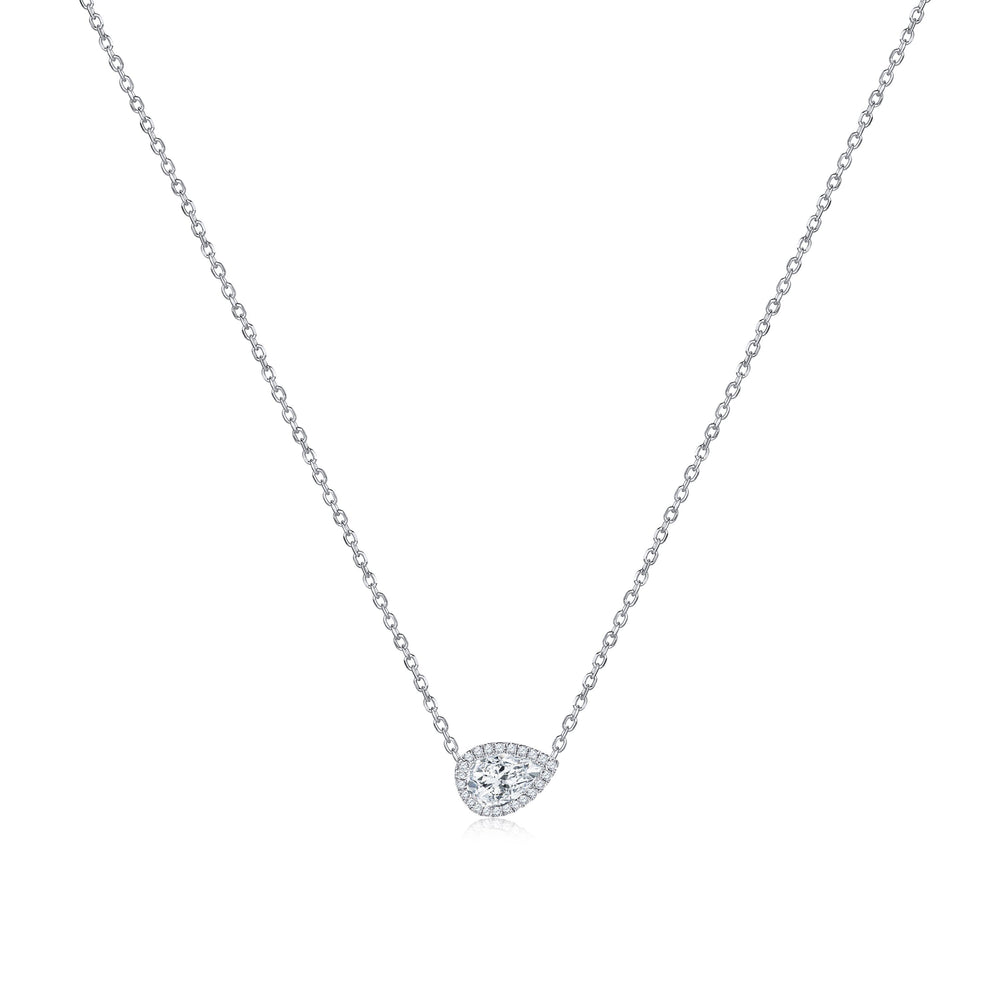 Rock & Divine 'Perfect Pear Pendant with Halo'
