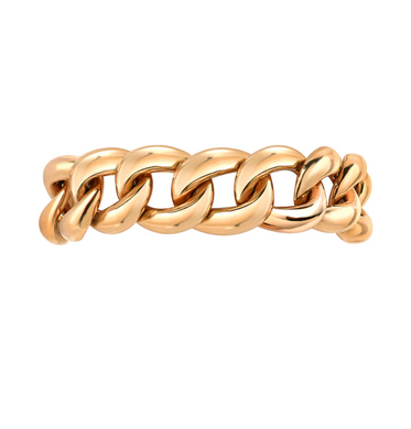 Zoe Lev 14k Gold Cuban Link Ring