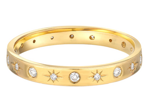 Zoe Lev 14k Gold Diamond Starburst Ring