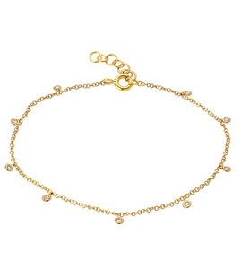 Zoe Lev 14k Gold & Diamond Anklet