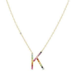 Kelly Bello Signature Letter Necklace