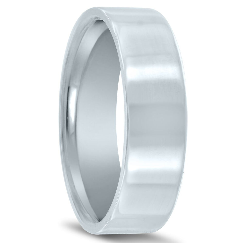 Flat 6mm Euro Fit Men's Wedding Ring