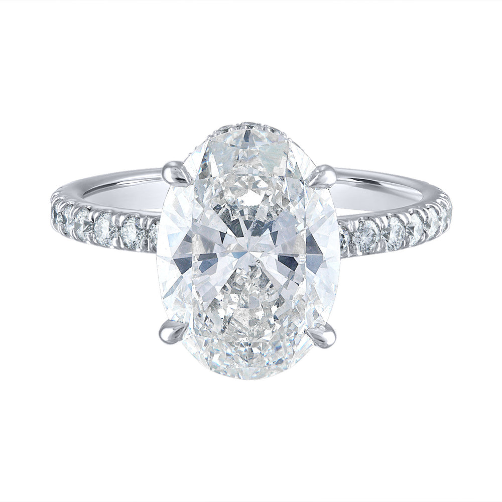 Oval Pave Diamond Setting