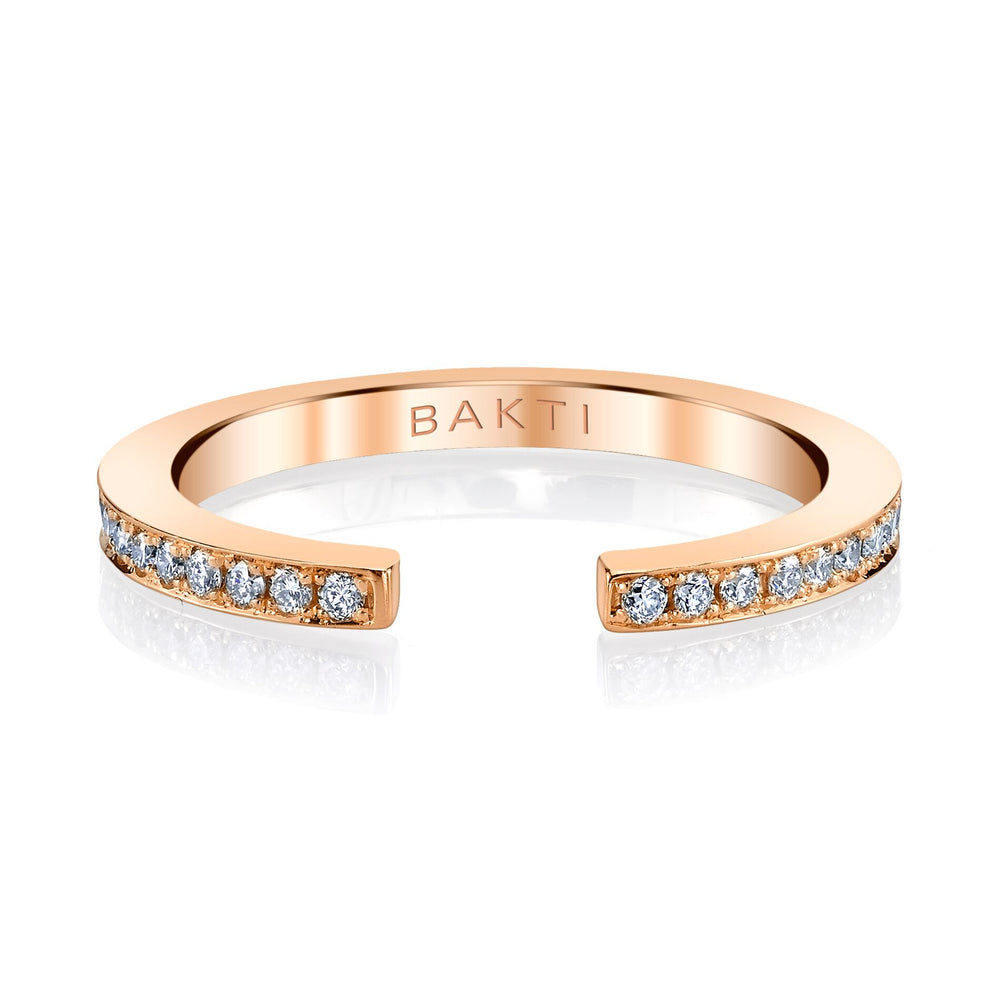 BAKTI 14k Broken Lines Ring