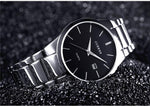 Black analog luxury wristwatch