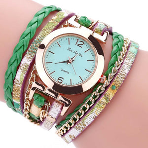 Multi layers quartz bracelet watch