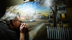 Painting with a Vision Impairment