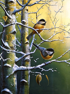 Picture of Winter Refuge – Chickadees