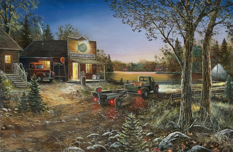 Picture of Good Old Days Original Oil