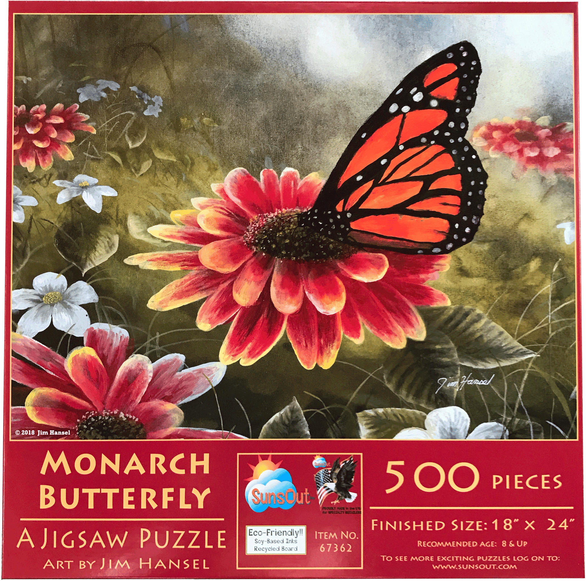 Garden Visitor - Monarch Butterfly 500 Piece Puzzle