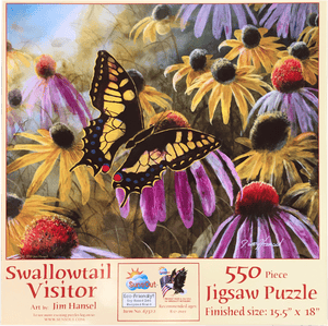 Garden Visitor - Swallowtail Butterfly 550 Piece Puzzle