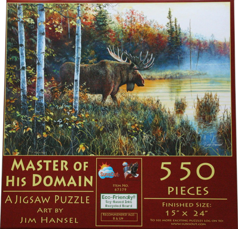 Master Of His Domain 550 Piece Puzzle