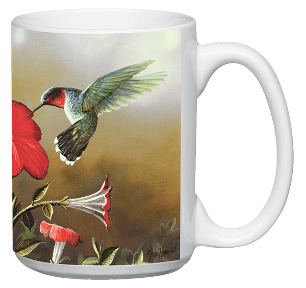 Ruby Throated Hummingbird Ceramic Mug