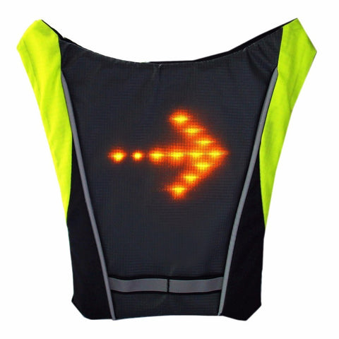 Reflective Safety Vest Outdoor Waterproof 48 LED Turn Signal Vest for Cycling