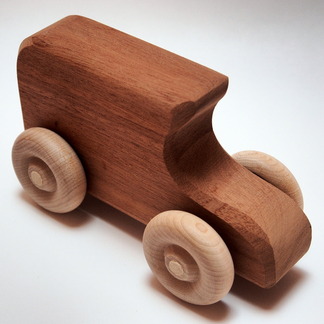 Vintage Dark Hardwood Model T Car