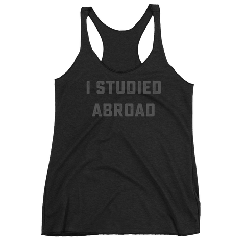 i studied abroad tank top