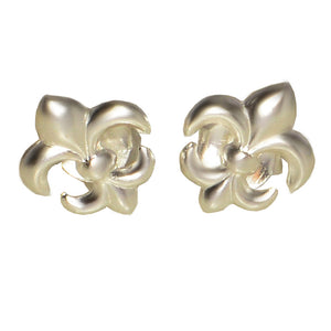 Ojewellery Fleur de Lys Sterling Silver Stud Post Butterfly Everyday Earrings
