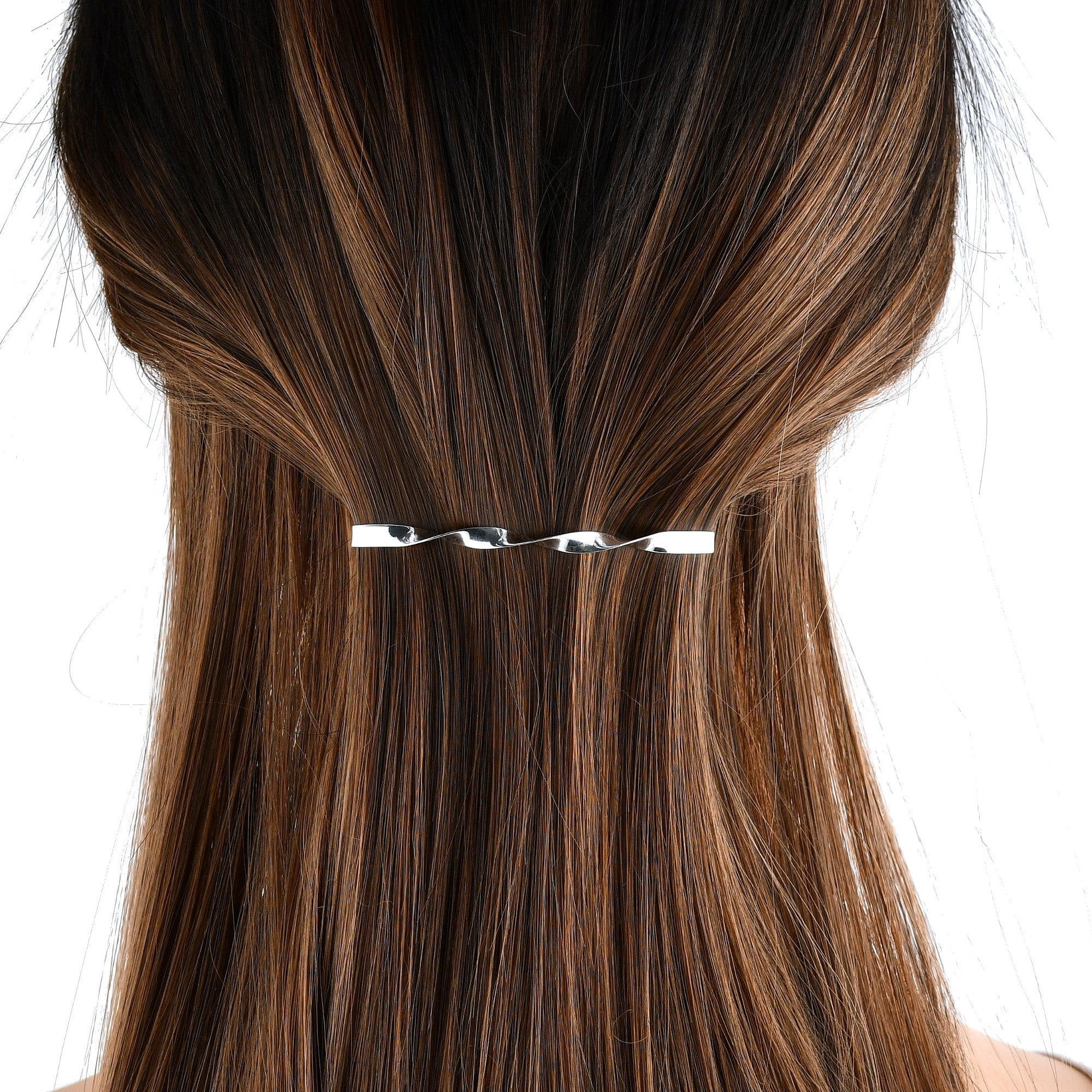 Sterling Silver Hair Clip Twisted Ojewellery UK Design