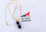 Golden-Bullet Pet Paw Pendant