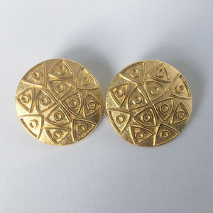 Gold Circles & Triangles Buttons