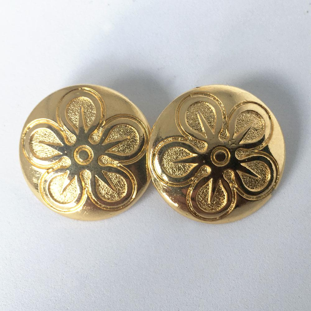 Gold 5 Point Flower Buttons