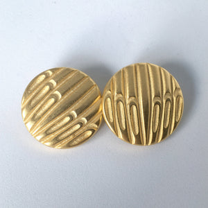 Gold Waffle Buttons