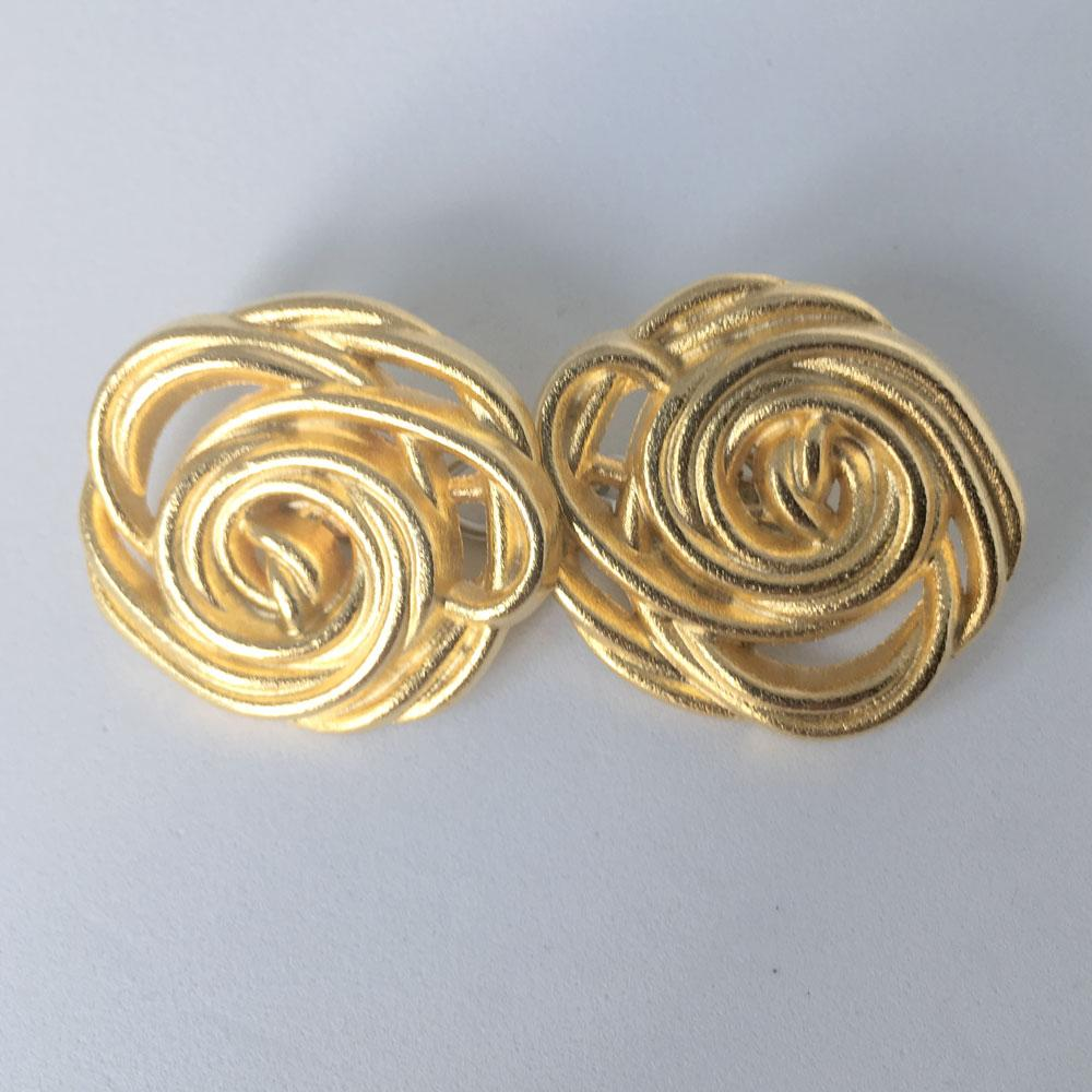Gold Rose Buttons